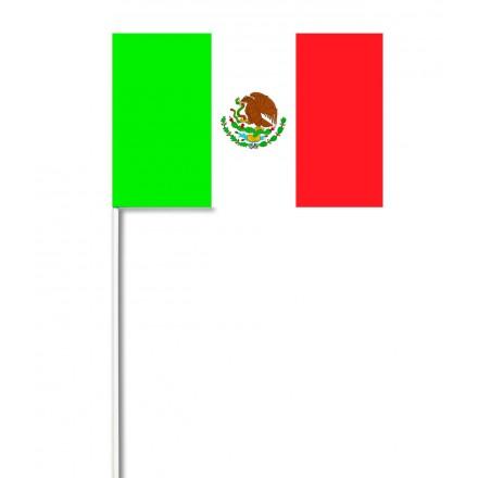 Mexico hand-waving flag