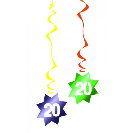 20th birthday hanging swirl decoration