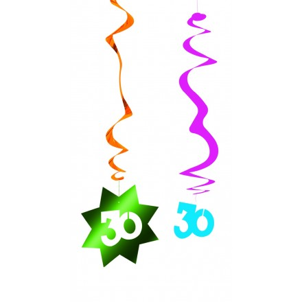 30th birthday hanging swirl decoration