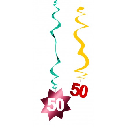 50th birthday hanging swirl decoration