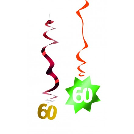 60th birthday hanging swirl decoration