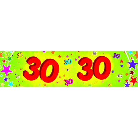 30th birthday banner 0,16x2,44m paper party supplies
