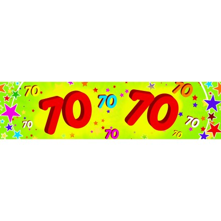 70th birthday banner 0,16x2,44m cheap paper party decoration