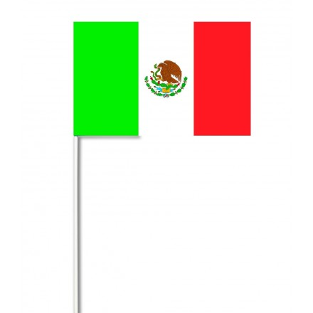Mexico hand-waving flag 14x21cm ( Pack of 100 ) paper hand held party supplies