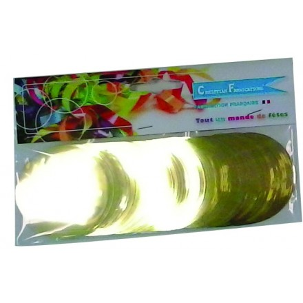 circle 55mm foil gold confetti 50g flame retardant metallic