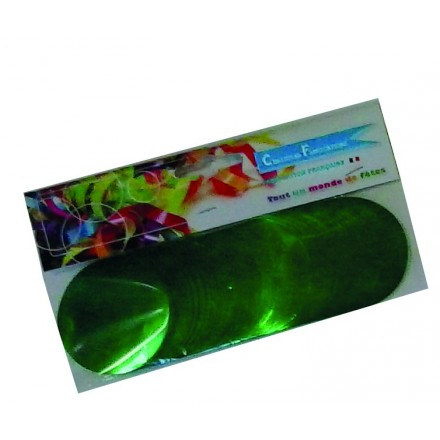circle 55mm foil green confetti 50g