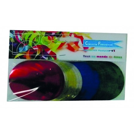 circle 55mm foil multicoloured confetti 50g flame retardant metallic
