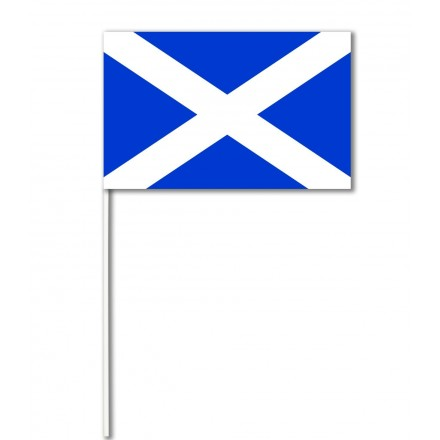 Scotland paper hand-waving flag
