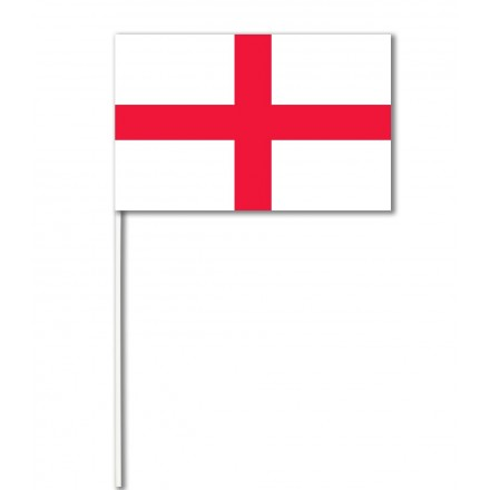 England paper hand-waving flag 14x21cm ( Pack of 100 ) hand held party decoration