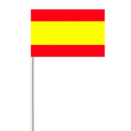 Spain paper hand-waving flag 14x21cm ( Pack of 100 ) hand held party decoration