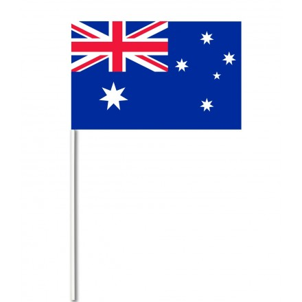 Australia paper hand-waving flag ( Pack of 100 ) cheap hand wavers party supplies