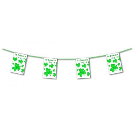 St Patrick's day bunting 4,50m shamrock