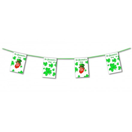 St Patrick's day bunting 4,50m Leprechaun