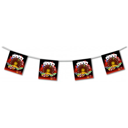 casino games bunting 4,50m flame resistant paper banner themed party decoration