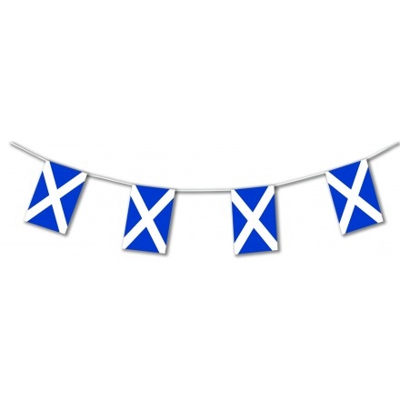 St Andrew plastic flag bunting