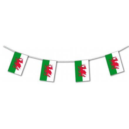 Wales plastic flag bunting