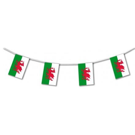 Wales plastic flag bunting
