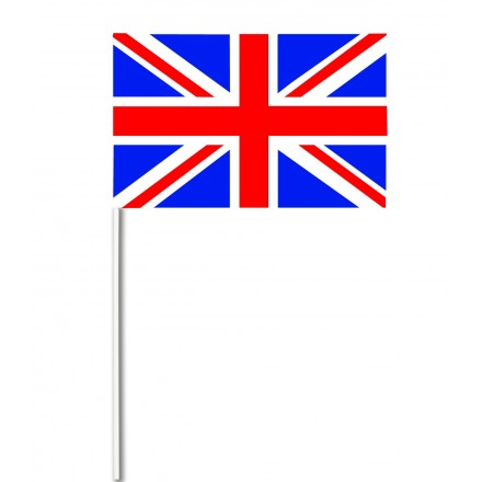 Union Jack paper hand-waving flag