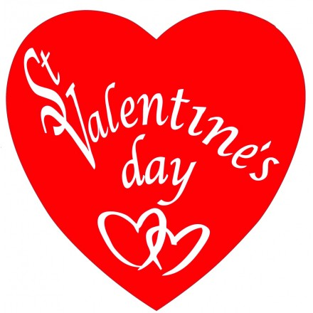 St Valentine's day cutout