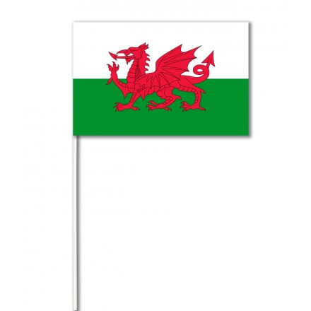 Wales (dragon) paper hand-waving flag