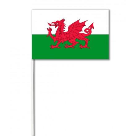 Wales (dragon) paper hand-waving flag