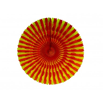 Red and yellow honeycomb fan 50cm Spanish themed party supplies