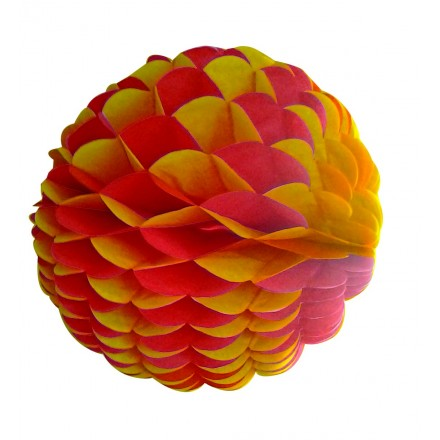 honeycomb ball 10inch/25cm red and yellow spanish party decoration flame retardant paper