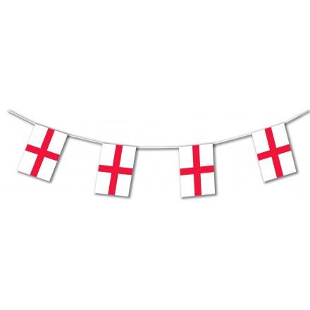 England plastic flag bunting