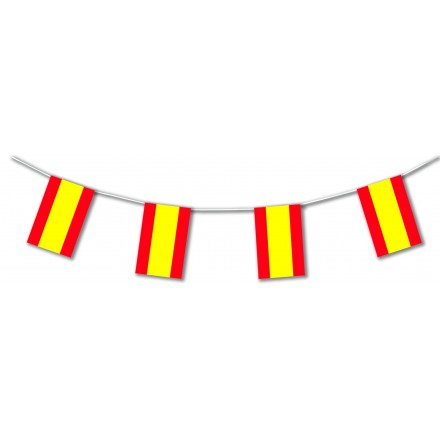 Spain plastic flag bunting