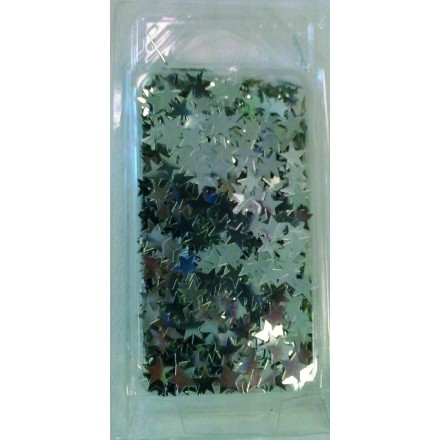 Silver star glitter 25g Christmas table decoration