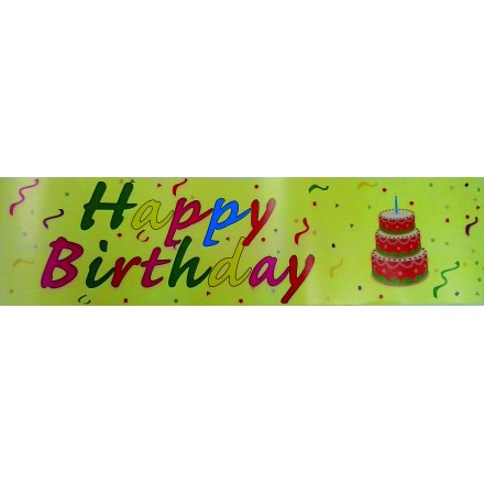 happy birthday banner 0,16x2,44m printed one side cheap price party decoration