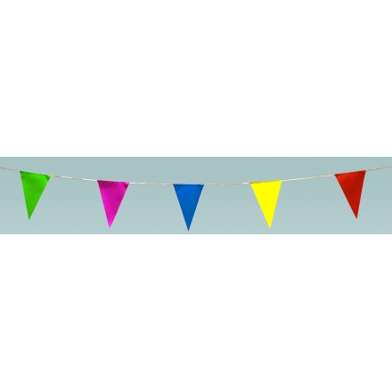 Multicoloured triangular 25x35cm pennant bunting 10m high quality banner party supplies