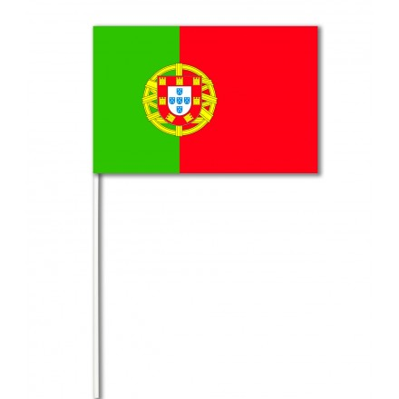 Portugal hand-waving flag 14x21cm  ( pack of 100) paper hand held party decoration