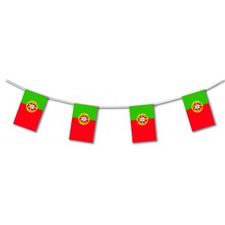 Portugal plastic flag bunting
