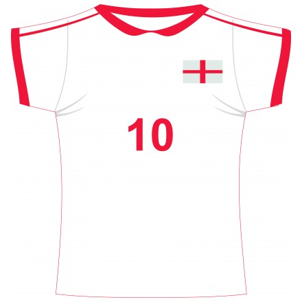 England football jersey cutout
