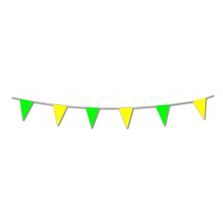 green and yellow pennant bunting 20x30cm 10m