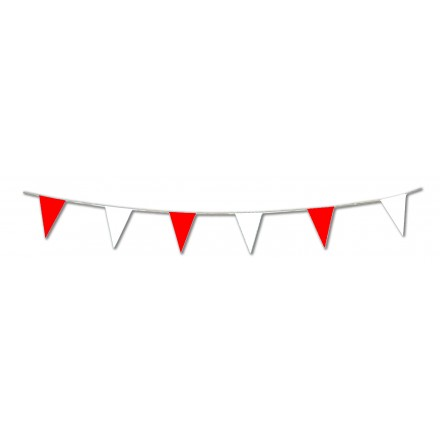 St George's day pennant red and white 10m lengths