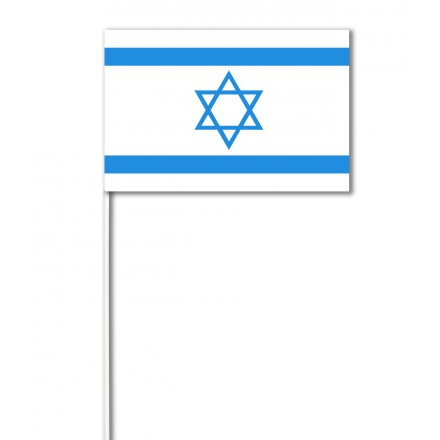 Israel paper hand-waving flag (100 pieces)