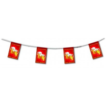 Beerfest bunting 4,50m lengths flameproof paper banner party supplies