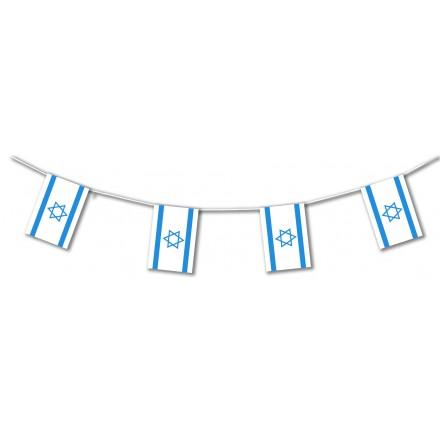 Israel plastic flag bunting