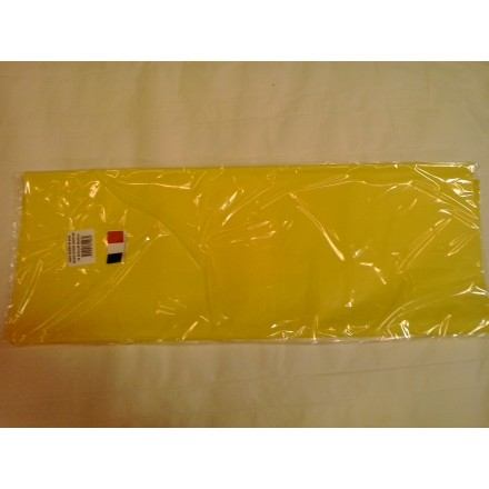 Yellow tissue paper wrap