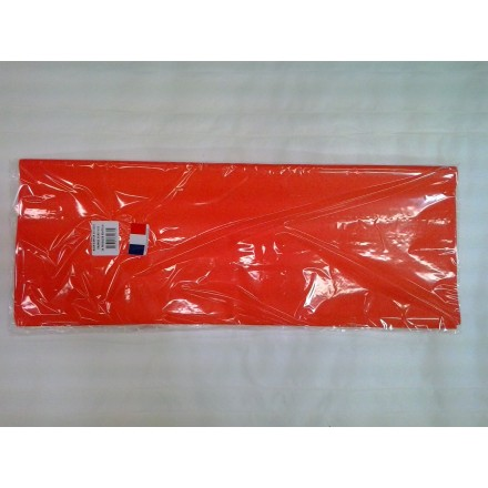Orange tissue paper wrap