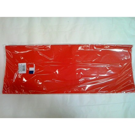 Red tissue paper wrap