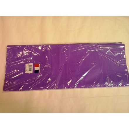 Purple tissue paper wrap