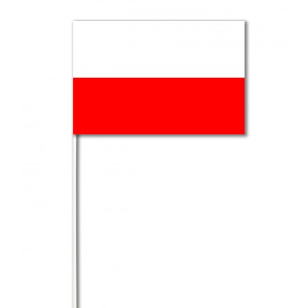 Poland paper hand-waving flag 14x21cm ( 100 pieces ) hand held party decoration