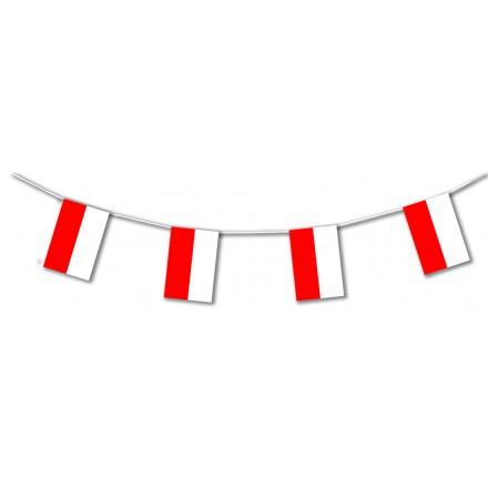 Poland plastic flag bunting