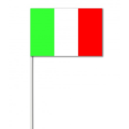 Italy paper hand-waving flag 14x21cm, 100 flags Italian hand held flags
