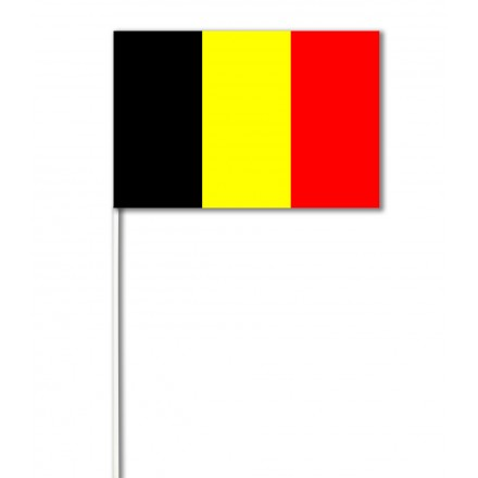 Belgium paper hand-waving flag ( Pack of 100 ) hand held party supplies
