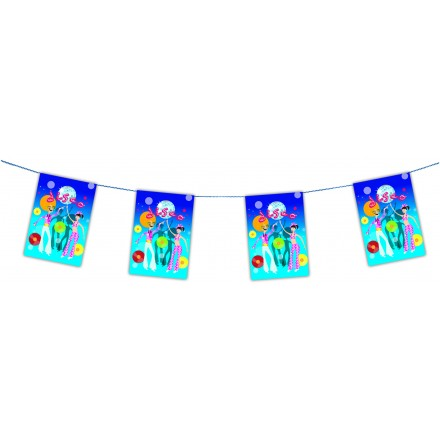 70s disco bunting 4m paper banner party cheap decoration ideas