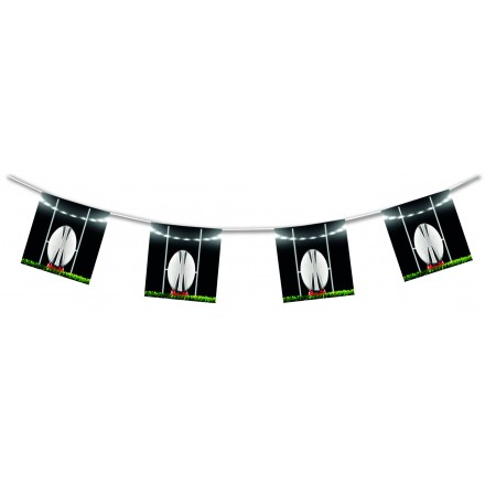 Rugby bunting 15ft/4,50m lengths flame retardant paper banner